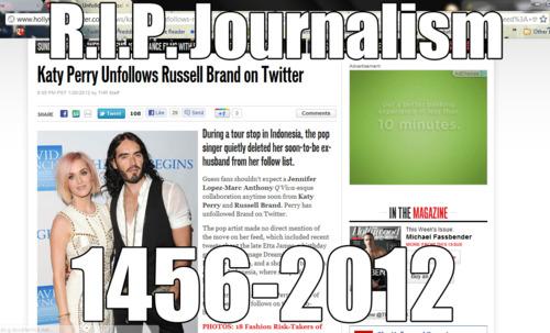 RIP journalism